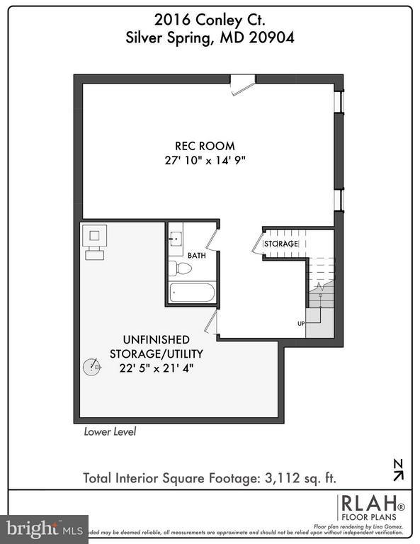 Basement Floor Plan - 2020 CONLEY CT, SILVER SPRING