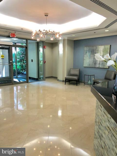 Security in the main lobby - 7500 WOODMONT AVE #S217, BETHESDA