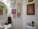 Main level powder room - 10409 COLESVILLE RD, SILVER SPRING
