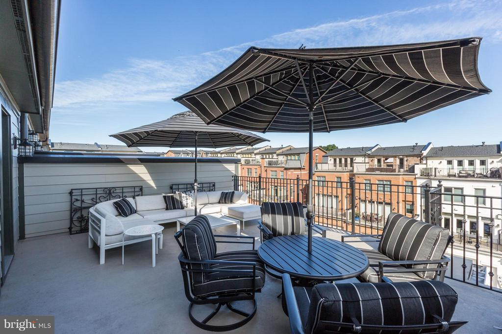 Terrace off Top Floor Family Room - 10819 SYMPHONY PARK DR, NORTH BETHESDA