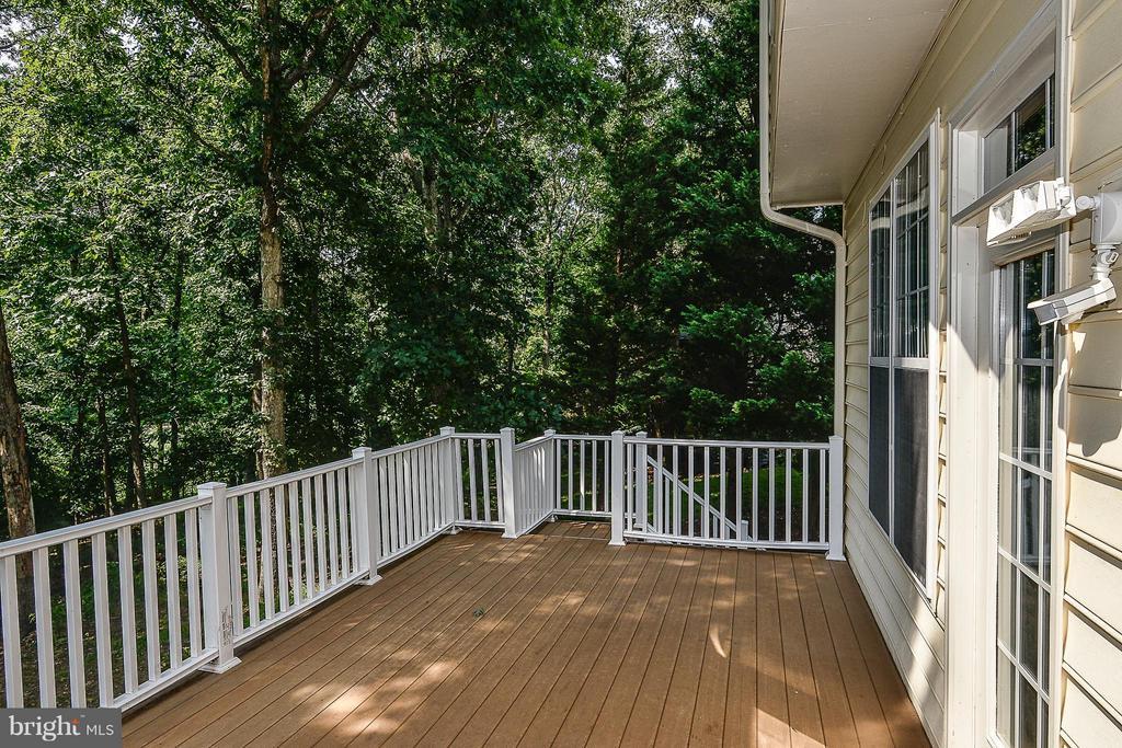 Trex deck off kitchen/family room - 14456 SEDONA DR, GAINESVILLE