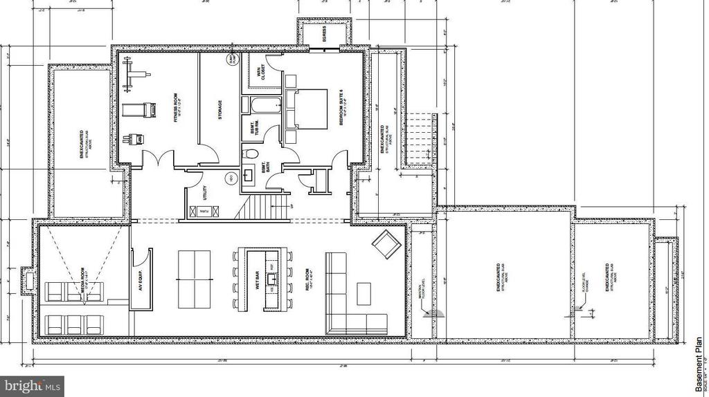 Lower Level Floorplan - 4669 34TH ST N, ARLINGTON