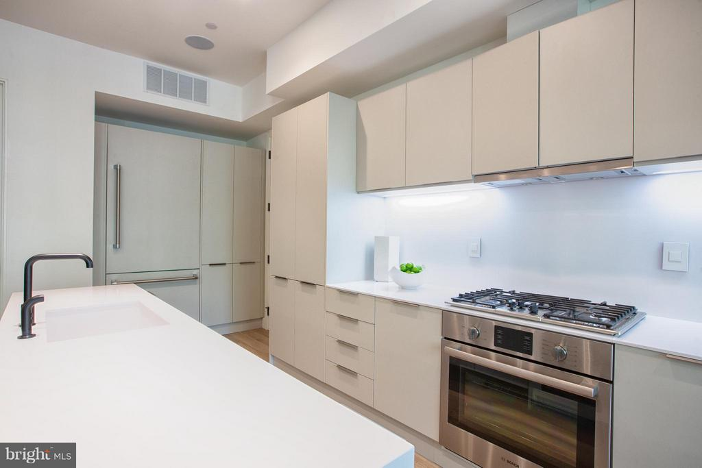 Kitchen with custom Porcelanosa Cabinetry - 928 O ST NW #2, WASHINGTON