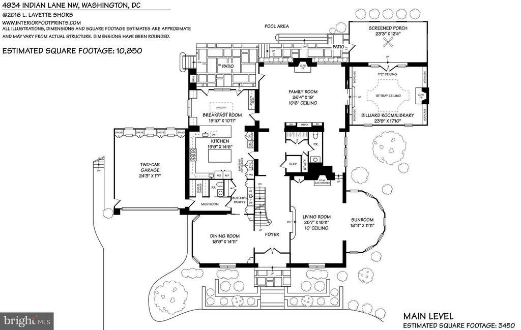 Main Level Floor Plan - 4934 INDIAN LN NW, WASHINGTON