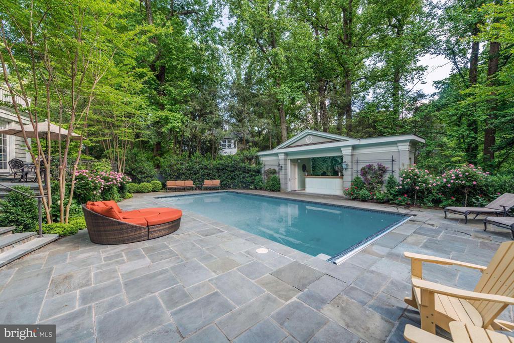 Patio, Pool, & Pool House - 4934 INDIAN LN NW, WASHINGTON