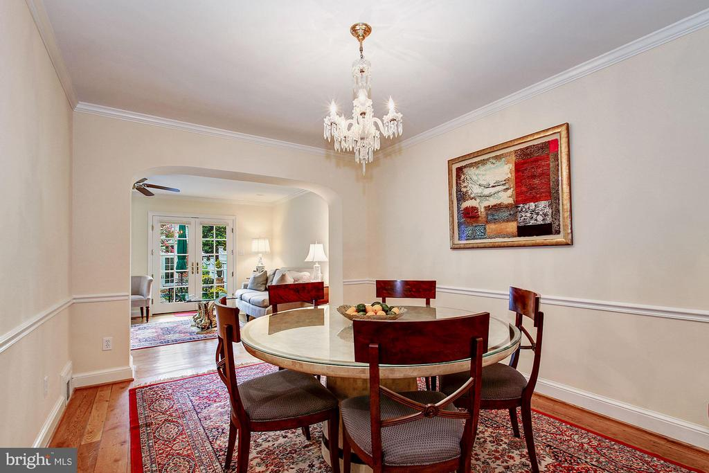 Dining Room with Original Chandelier - 1613 35TH ST NW, WASHINGTON