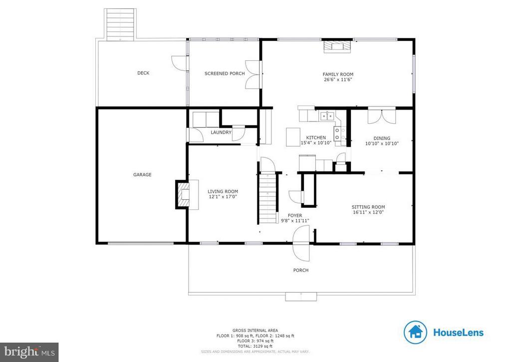 MaIn level floor plan - 304 COUNTRY CLUB DR SW, LEESBURG