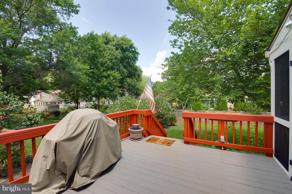 Well maintained deck for grilling out - 304 COUNTRY CLUB DR SW, LEESBURG