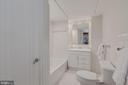 Renovated bath w/ marble vanity, built-in shelves - 2101 CONNECTICUT AVE NW #A, WASHINGTON