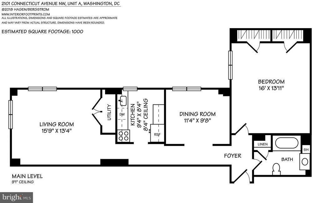Floor plan - 2101 CONNECTICUT AVE NW #A, WASHINGTON