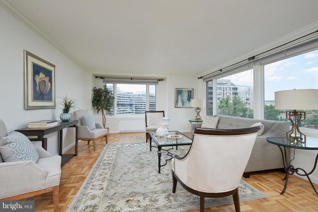 Living Room - 2475 VIRGINIA AVE NW #602-603, WASHINGTON