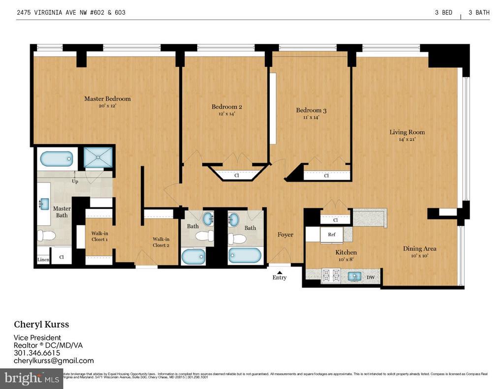Floor Plan - 2475 VIRGINIA AVE NW #602-603, WASHINGTON