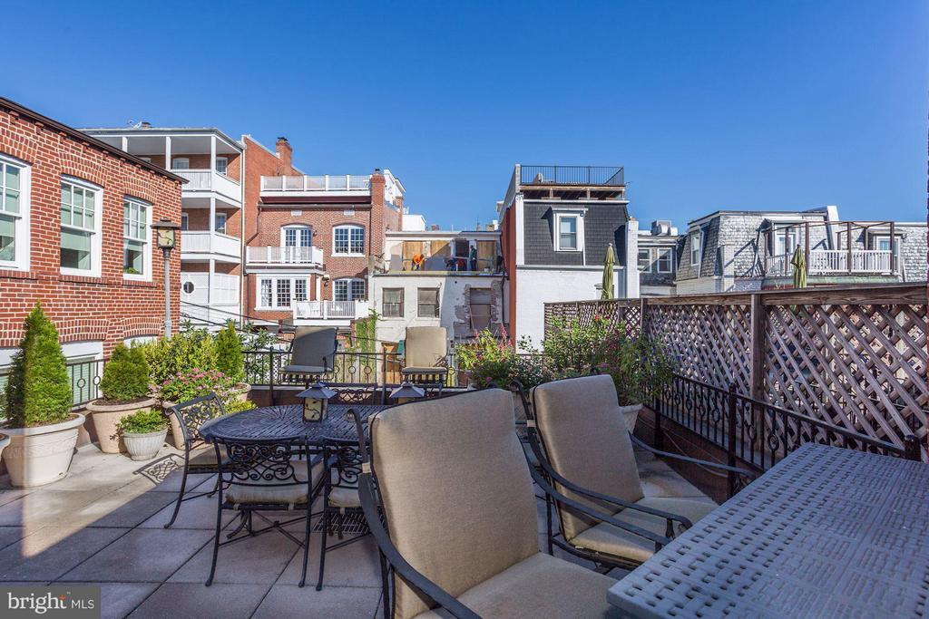 3rd Level Rear Roof Deck - 2121 S ST NW, WASHINGTON