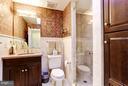 Powder room off kitchen - 2121 S ST NW, WASHINGTON