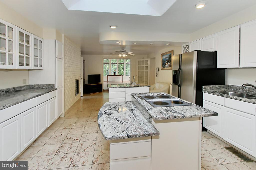 Fabulous Granite Kitchen with Skylight - 6519 DEARBORN DR, FALLS CHURCH