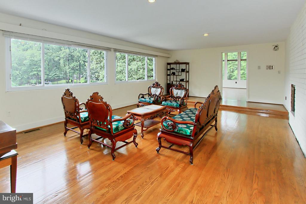 Formal Living Room with View of the Lake - 6519 DEARBORN DR, FALLS CHURCH