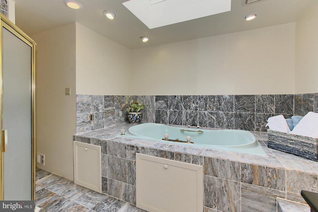 Marble Master Bath with Skylight and Spa Tub - 6519 DEARBORN DR, FALLS CHURCH