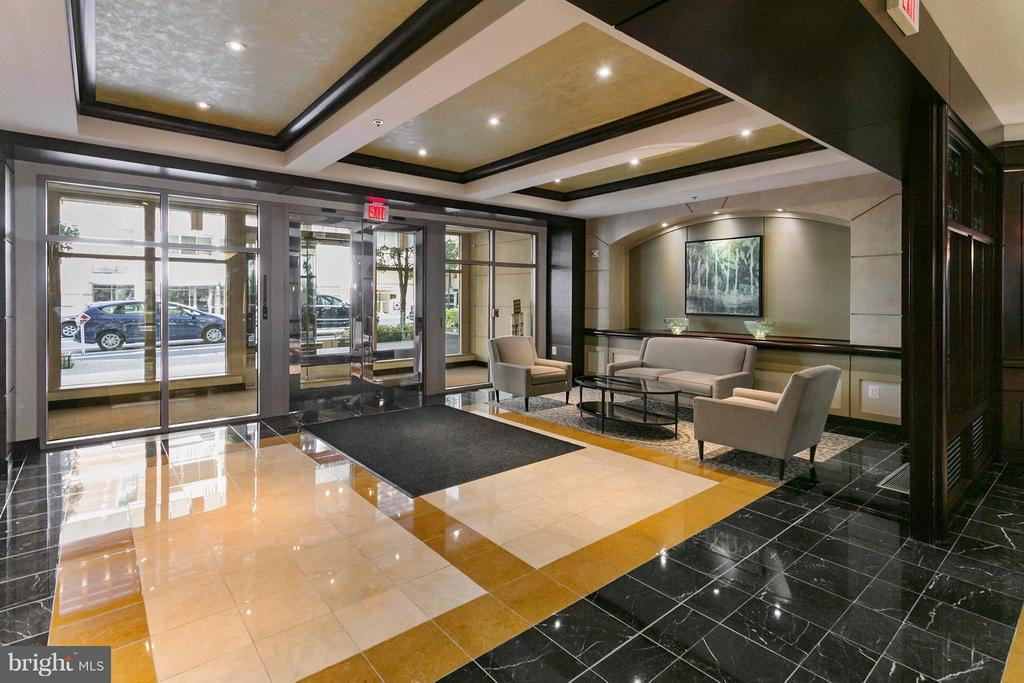 Luxury Condo Lobby entrance - 888 QUINCY ST N #203, ARLINGTON