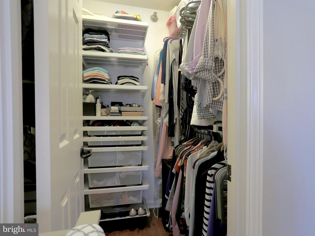 HUGE Walk-In Closet with Custom Built-in Shelving - 2400 CLARENDON BLVD #503, ARLINGTON
