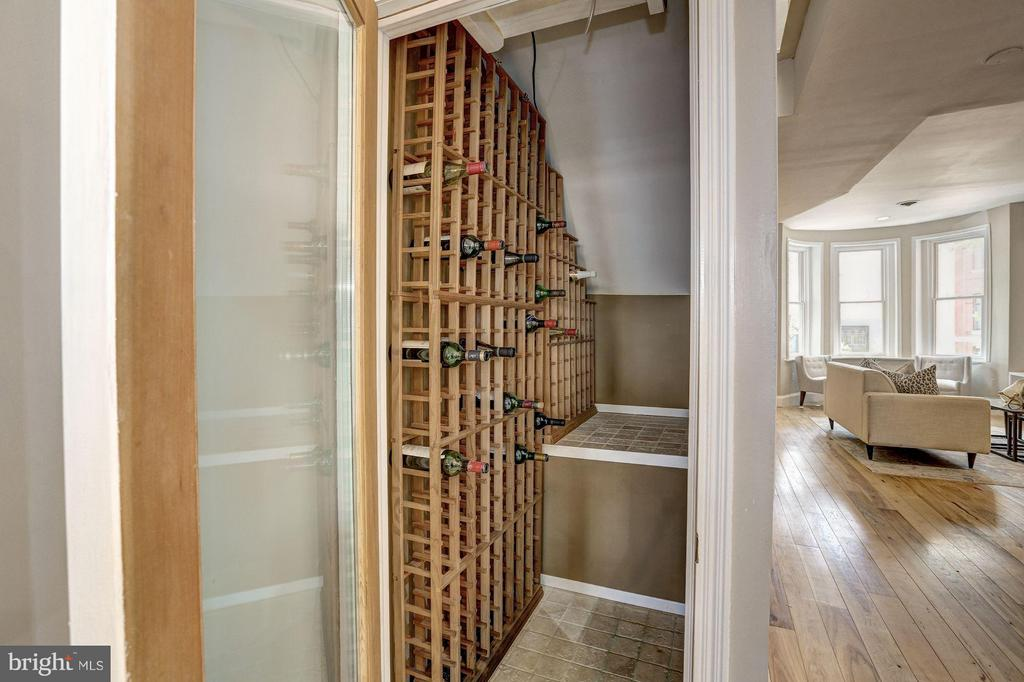 Wine closet right next to the kitchen - 1107 P ST NW, WASHINGTON