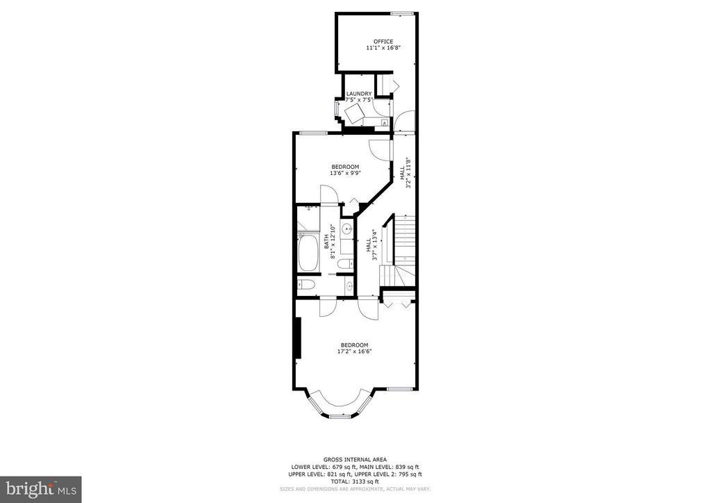 Floorplans - 2nd Floor - 1107 P ST NW, WASHINGTON