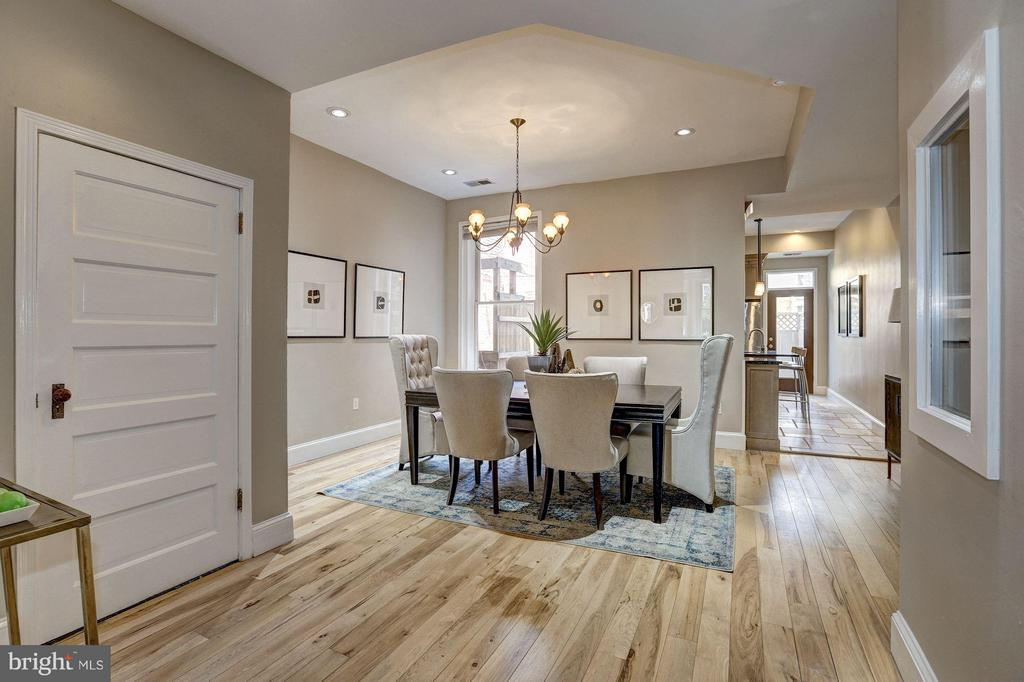 The dining room features natural light - 1107 P ST NW, WASHINGTON