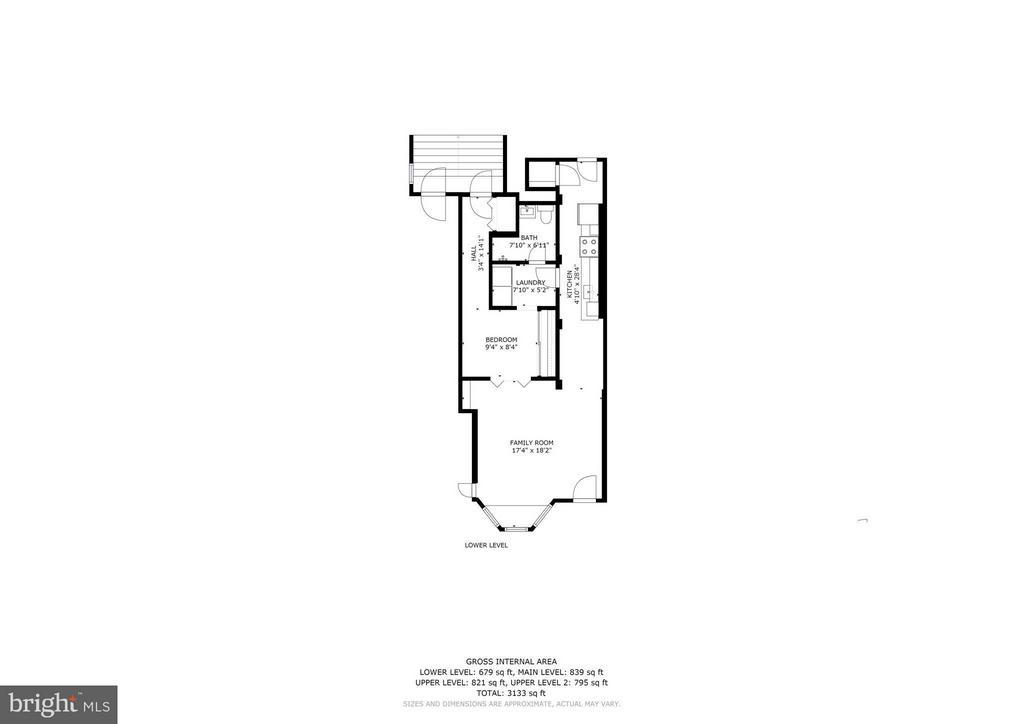 Floorplans - Lower Level - 1107 P ST NW, WASHINGTON