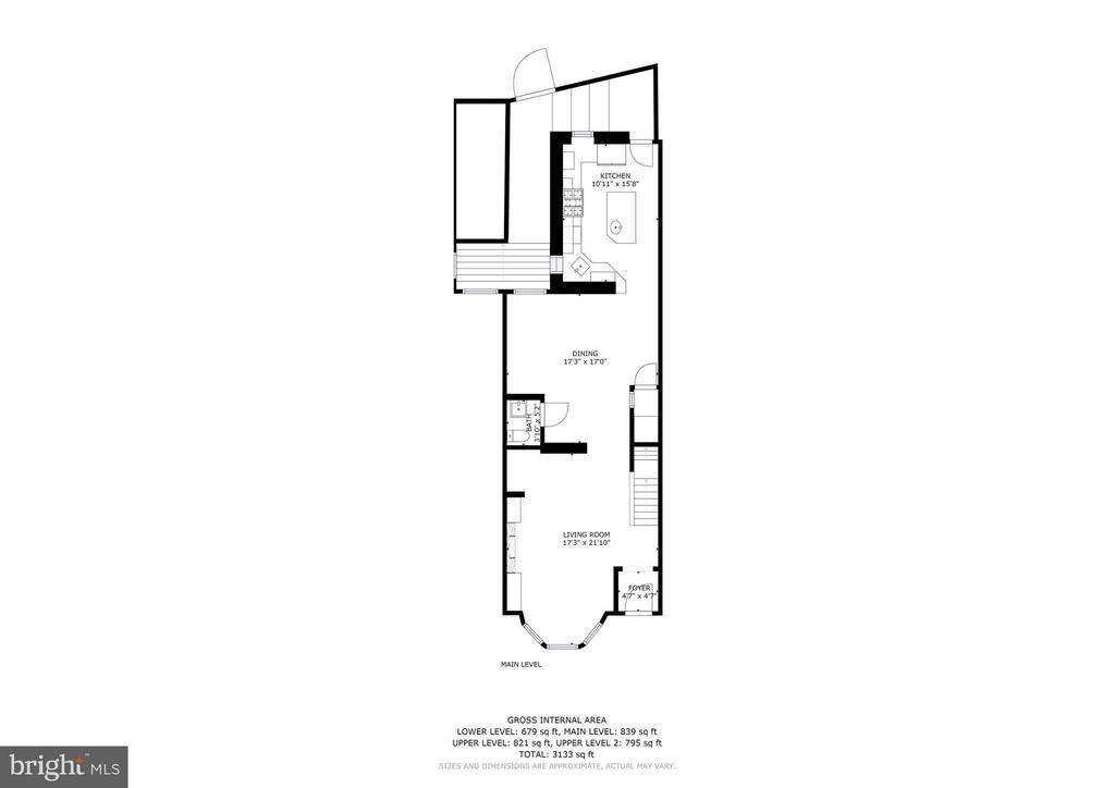 Floorplans - Main Floor - 1107 P ST NW, WASHINGTON