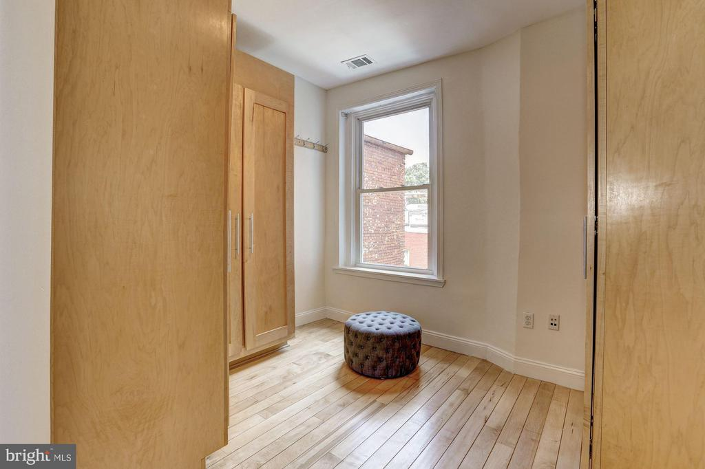 Sizable closets in the master bedroom - 1107 P ST NW, WASHINGTON