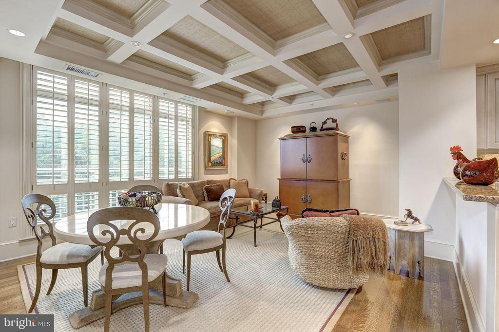 Breakfast area/family room off kitchen - 5630 WISCONSIN AVE #702, CHEVY CHASE