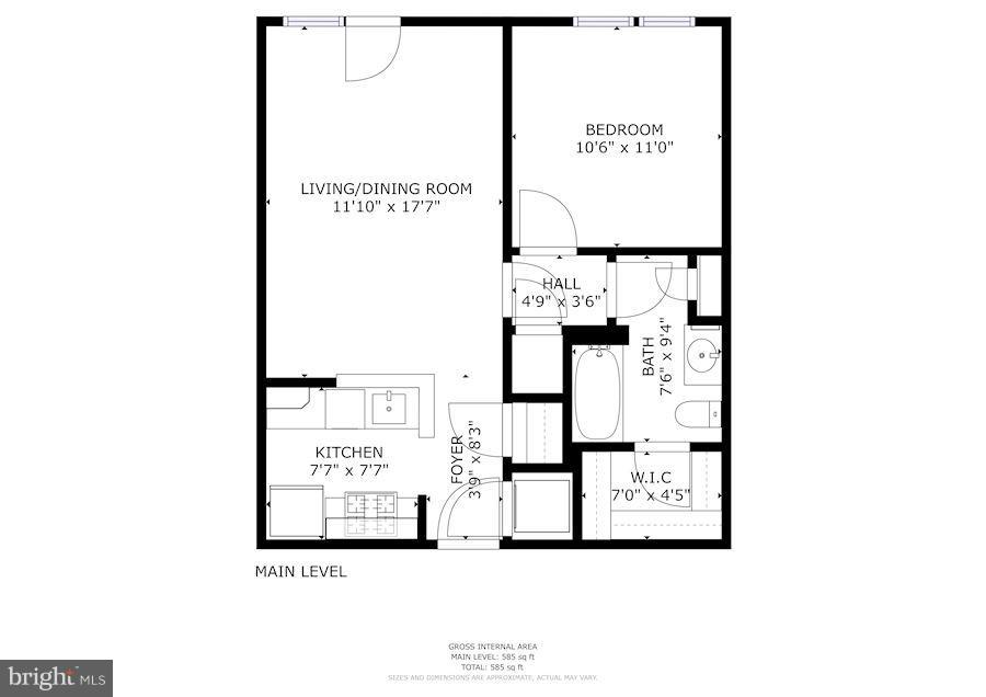 Floor Plan - 309 HOLLAND LN #236, ALEXANDRIA