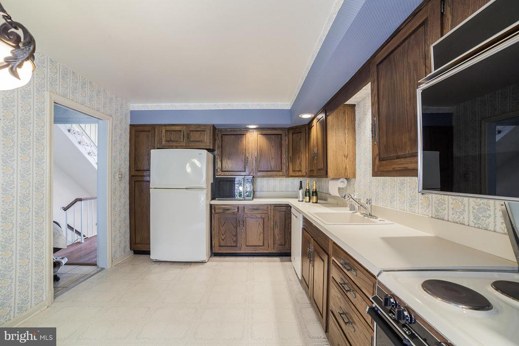 Kitchen Looking Towards Hall and Living Room - 10927 WICKSHIRE WAY #K-3, ROCKVILLE