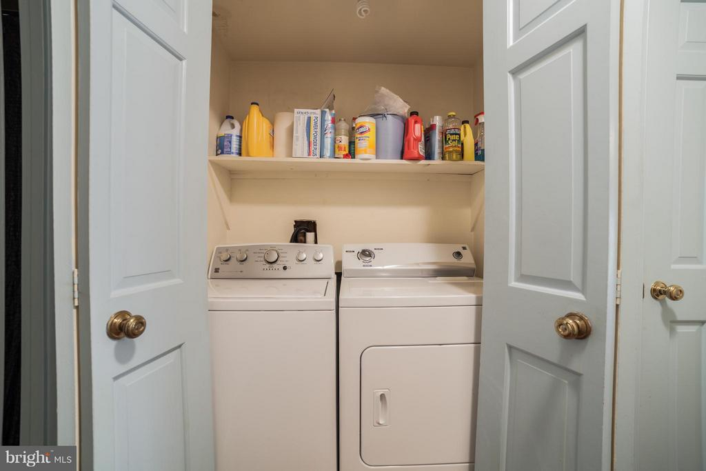 Washer and Dryer (Lower Level) - 10927 WICKSHIRE WAY #K-3, ROCKVILLE