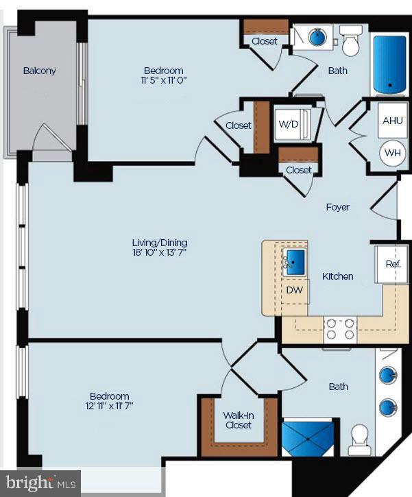 floor plan - 1020 HIGHLAND ST #410, ARLINGTON
