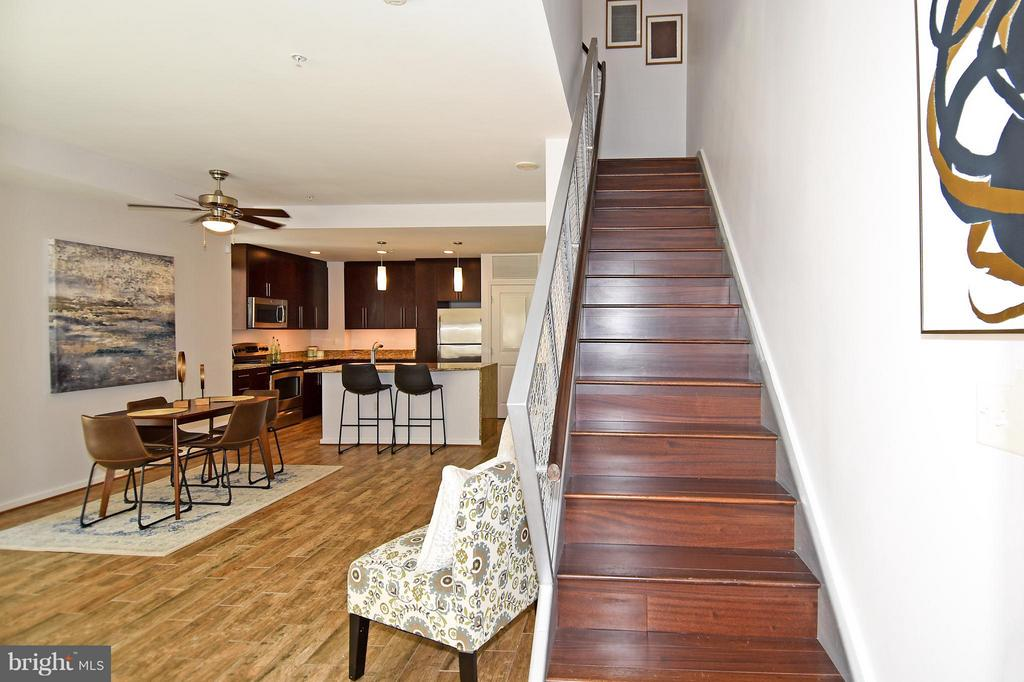 Stairs to 2nd level - 6500 AMERICA BLVD #204, HYATTSVILLE