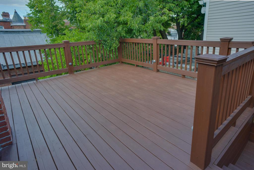 Owner's Unit Private Deck - 1731 RIGGS PL NW, WASHINGTON