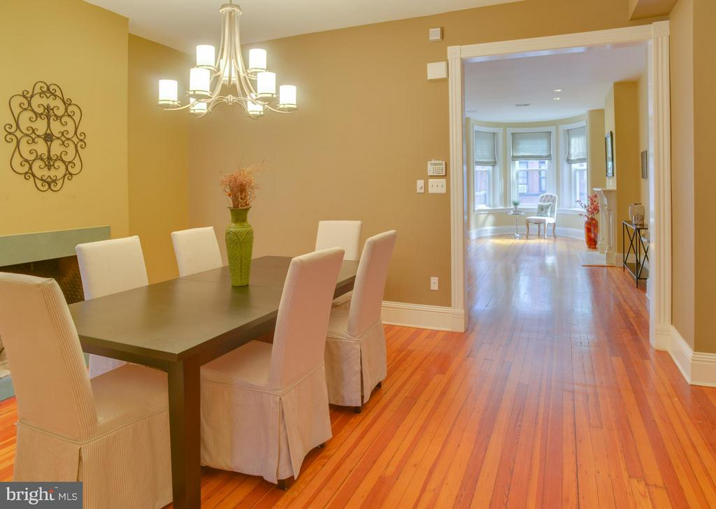 Upper Floor Apt Dining Room - 1731 RIGGS PL NW, WASHINGTON