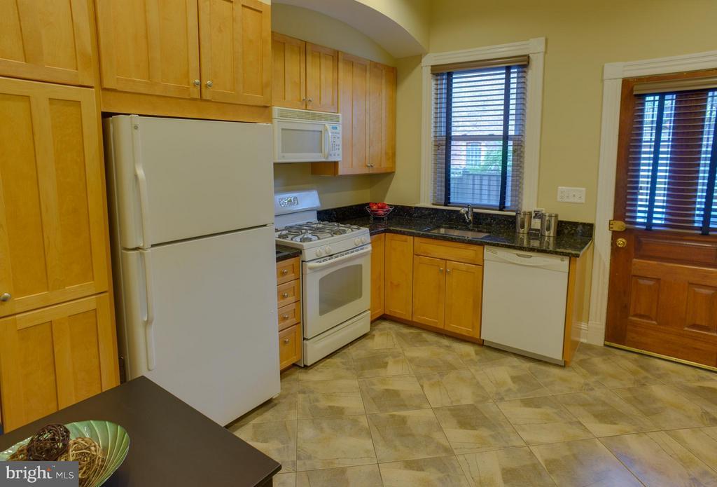 First Floor Apt Kitchen - 1731 RIGGS PL NW, WASHINGTON
