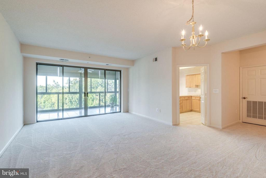 Large Sliding Glass Doors Let in Lots of Light - 19355 CYPRESS RIDGE TER #601, LEESBURG