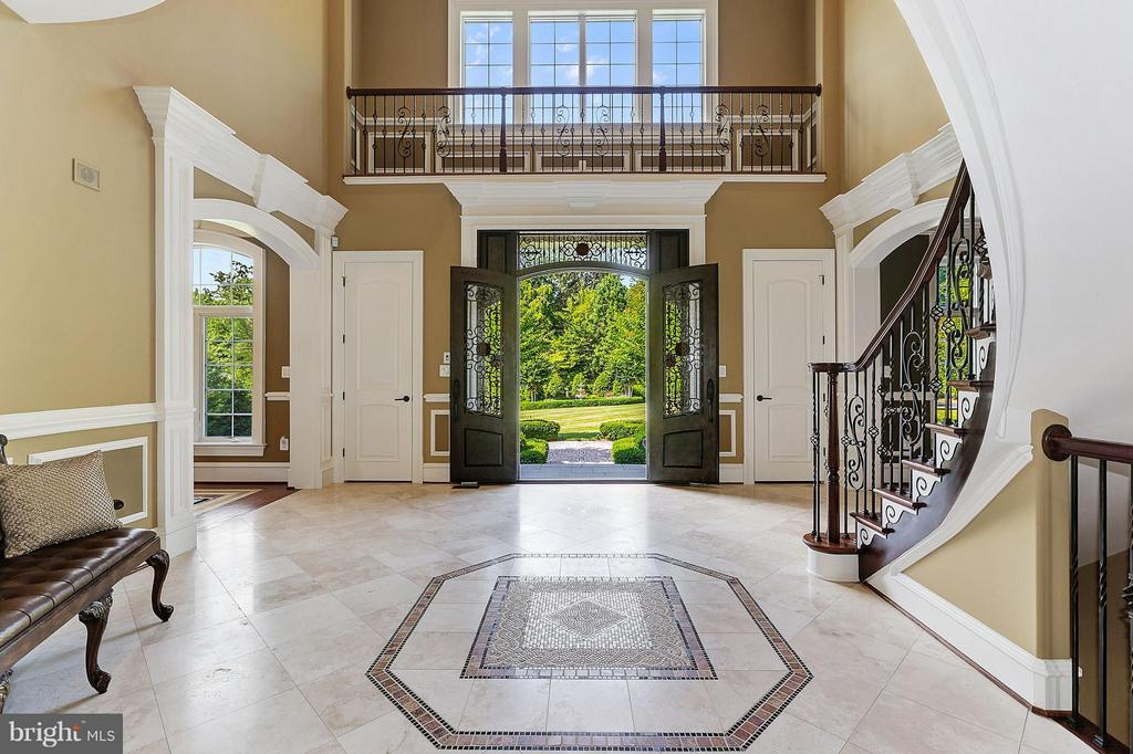 20 ft tall, Stunning Entrance Foyer - 8334 ALVORD ST, MCLEAN