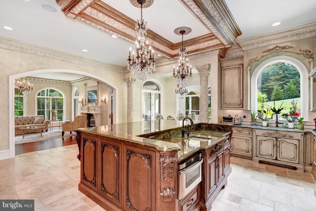 Impeccable Attention to Detail in Gourmet Kitchen - 950 HICKORY RUN LN, GREAT FALLS