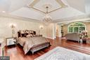 Master Bedroom with Private Balcony - 950 HICKORY RUN LN, GREAT FALLS
