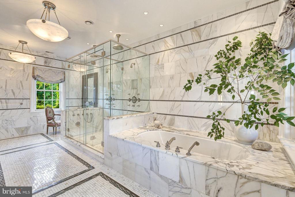 Calcutta Limestone Encased Master Bathroom - 1607 28TH ST NW, WASHINGTON