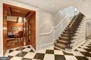 Lower Level Landing with Flawless Millwork - 1607 28TH ST NW, WASHINGTON