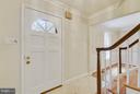 Foyer with marble flooring - 4601 FLOWER VALLEY DR, ROCKVILLE
