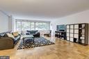 Spacious living room w/hardwood floors - 5406 CONNECTICUT AVE NW #206, WASHINGTON