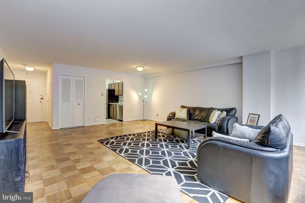 Open living/dining room area - 5406 CONNECTICUT AVE NW #206, WASHINGTON