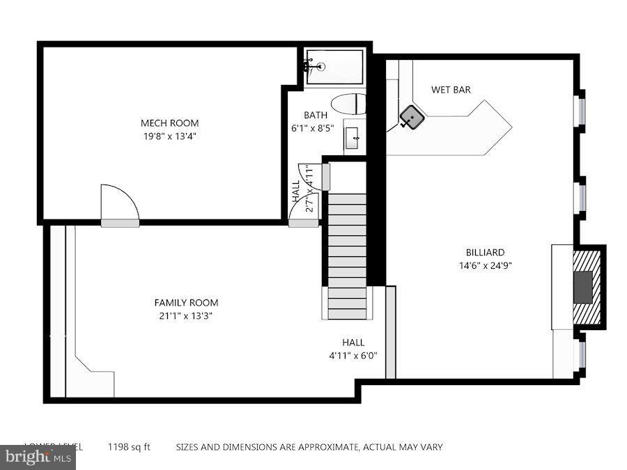 Lower Level Floorplan - 11735 FAIRFAX STATION RD, FAIRFAX STATION