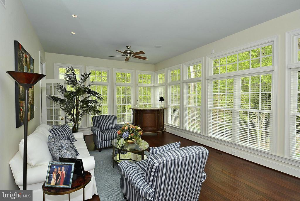 Gorgeous Sun Room with Walls of Windows - 1105 LEIGH MILL RD, GREAT FALLS