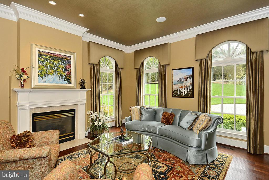 Living Room with Fireplace - 1105 LEIGH MILL RD, GREAT FALLS